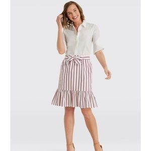 Final Markdown!Draper James Striped Flounce Skirt
